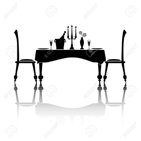 dinner silhouette romantic dinner silhouette www imgkid com the image