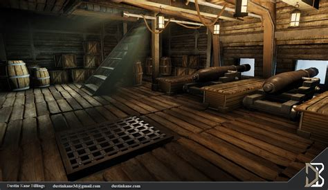 Class A Floor Plans by Dustin Kane Billings 3d Artist Pirate Ship Cannon Deck