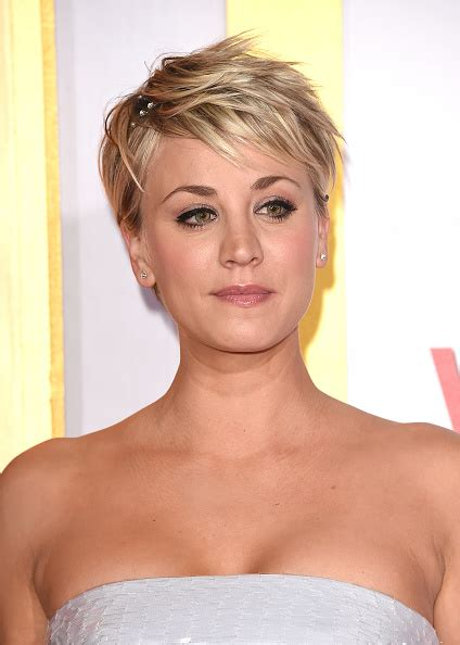 big bang blonde short hair cut pictures kaley cuoco news the big bang theory actress