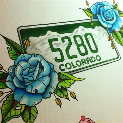mile high tattoo mile high city flash watercolor my
