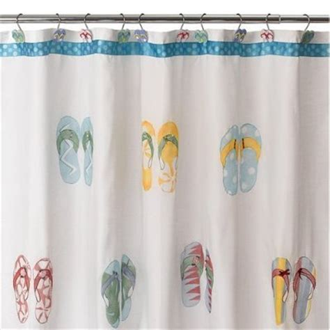 flip flop shower curtains flip flops fabric shower curtain 24 79