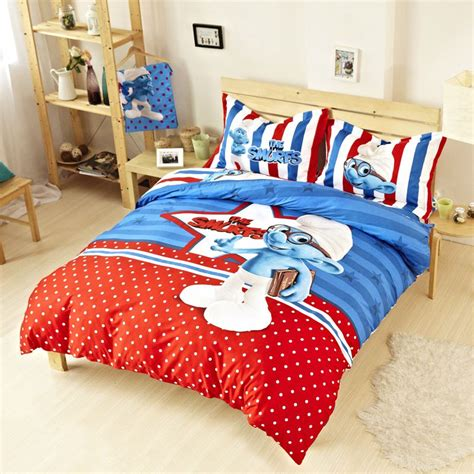 childrens twin comforter sets kids smurfs bedding set twin queen king size ebeddingsets