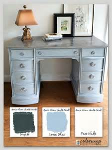 colored desks 17 best images about chalk paint vanity desk the