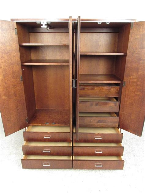 modern wardrobe armoire john stuart for widdicomb mid century modern wardrobe