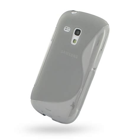 Softcase Mini 3 samsung galaxy s3 mini soft grey s shape pattern pdair
