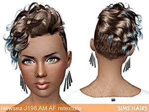 sims 3 american hairstyles newsea j198 black bullet am af hairstyle retextures by