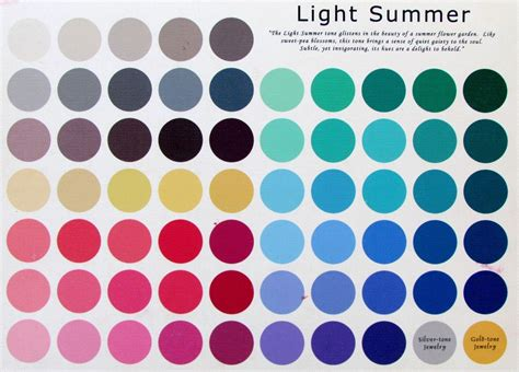 summer color palette light summer color palette style in 2019 color