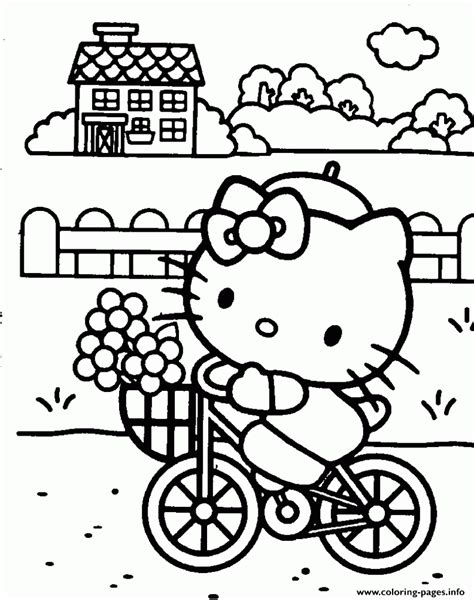 colouring pages hello to print hello bicycle ef46 coloring pages printable