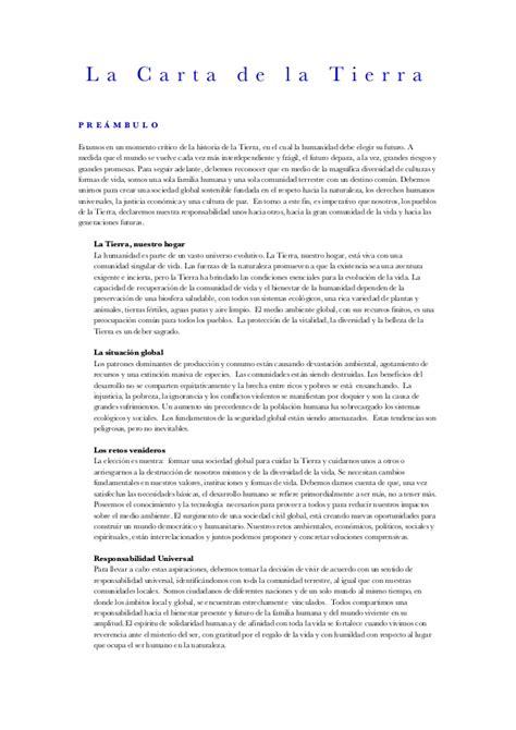 carta de consulta tecnica carta de la tierra