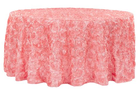 light pink 120 round tablecloth wedding rosette satin 120 round tablecloth coral cv linens