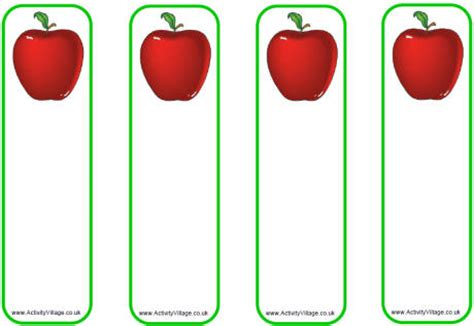 bookmark template for apple pages blank apple template images