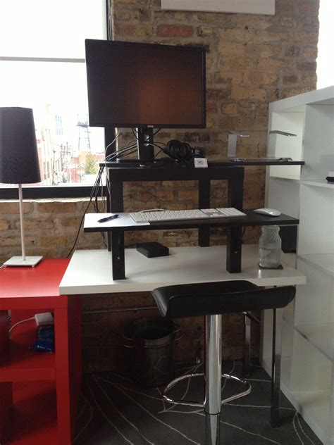 Make Your Own Standing Desk For 22 Enerspace Coworking Ikea Standing Desk 22