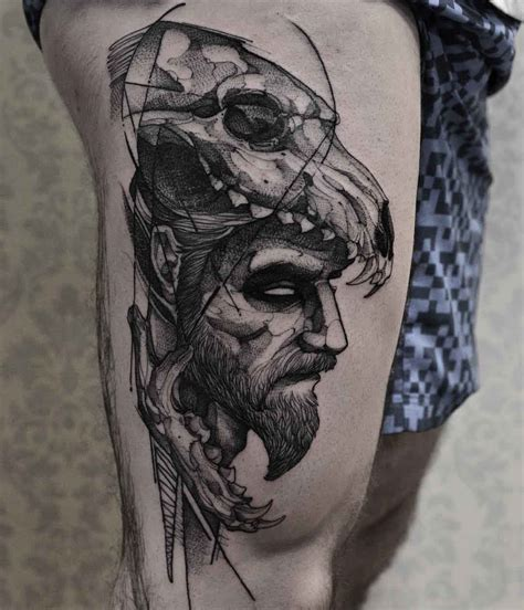 leg tattoos for men thigh designs ideas and meaning tattoos for you