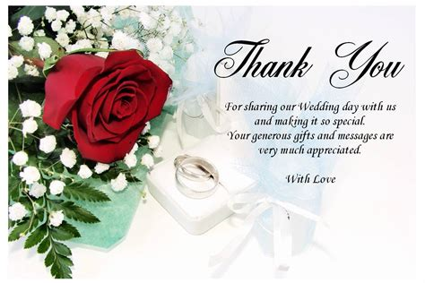 Wedding Thank You Gift Card - wedding thank you gifts and messages