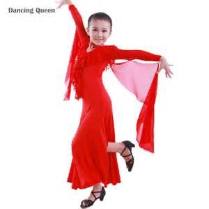 Children dress ballroom dancing girl modern dance dress kids viennese