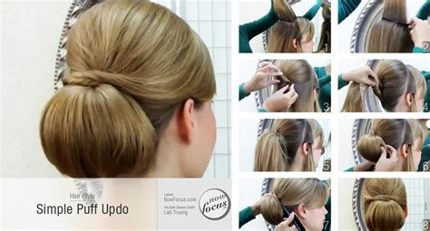 how to do a puff hairstyle steps by step how to make puff simple hairstyles step by hairstyles