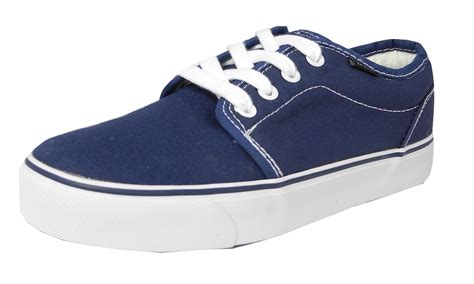 mens boys canvas boat yachting deck shoes lace up pumps