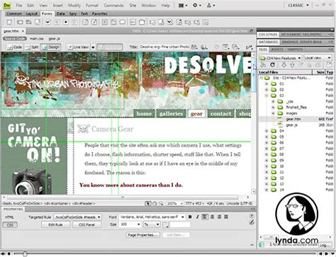 tutorial photoshop to dreamweaver free adobe dreamweaver cs4 tutorials