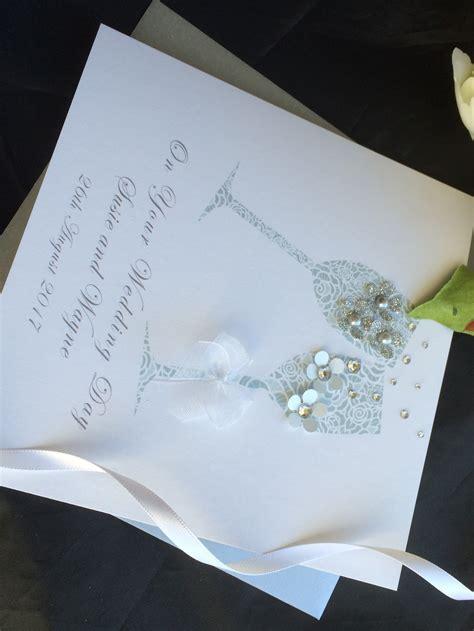 Handmade Wedding Cards Personalised Cardspink Amp Posh