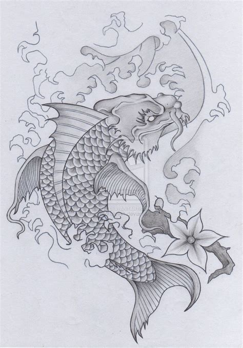 japanese koi dragon tattoo designs best 25 koi ideas on koi