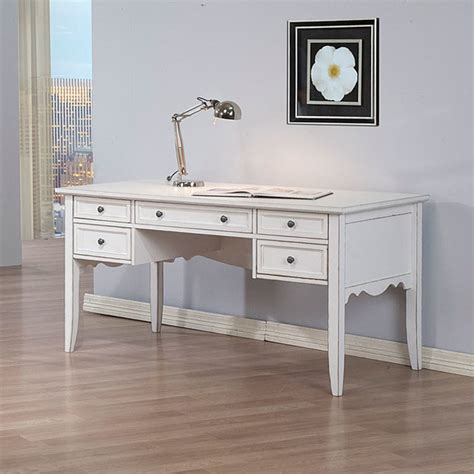 Overstock Office Desk White Classics Writing Desk Contemporary Desks And Hutches By Overstock