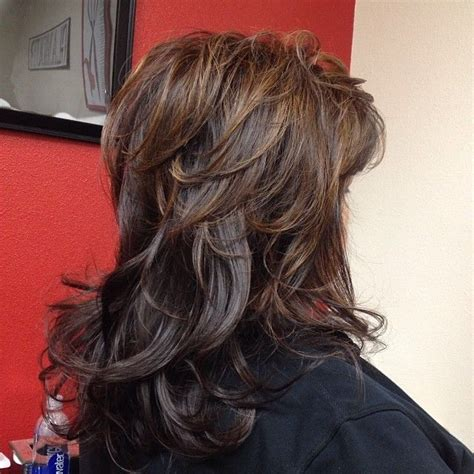 hair with low lights style golden brown base with dark brown low lights and light