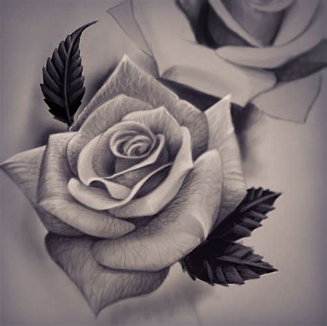 rose tattoo realistic pin by vives virgen santa on flowers