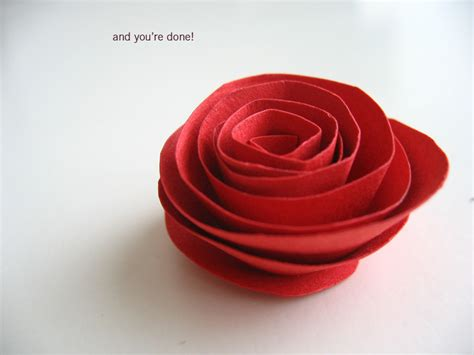 How To Make Paper Roses Easy - paper flowers simple paper flower tutorial