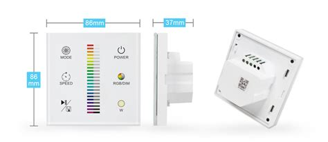 touch panel zigbee wireless smart home automation wall