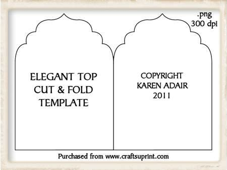 now card template top cut and fold card template on craftsuprint