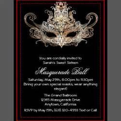 Handmade Masquerade Invitations - custom sweet sixteen masquerade invitations