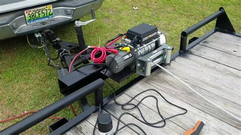 electric boat winch harbor freight badland winch from harbor freight installed youtube