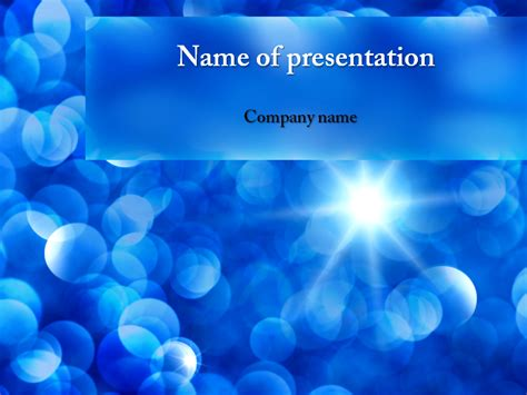 powerpoint templat free blue sunbeams powerpoint template for