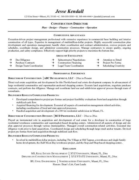 Construction Manager Resume by 21 Best Best Construction Resume Templates Sles