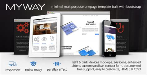 templates bootstrap parallax best responsive bootstrap landing pages collection