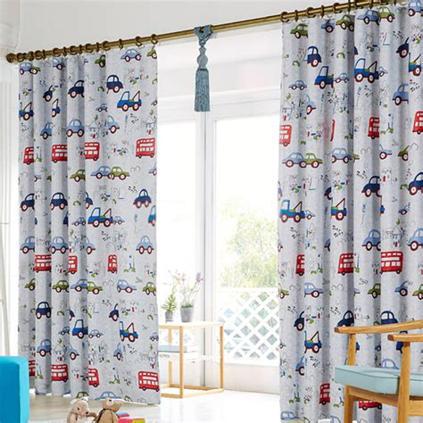 kids curtains cute cartoon curtain for kid with cars pattern