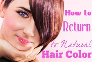 how to get my hair color back how to go back to your hair color