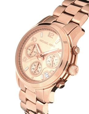 Michael Kors Ohrstecker Rosegold by Michael Kors Michael Kors Gold Plated Chronograph