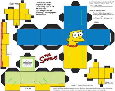 Simpsons Papercraft - simpsons1 marge cubee by theflyingdachshund on