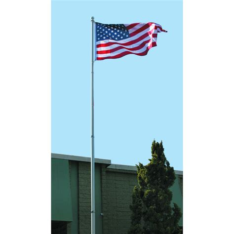 flag pole kit 20 ft telescoping flag pole