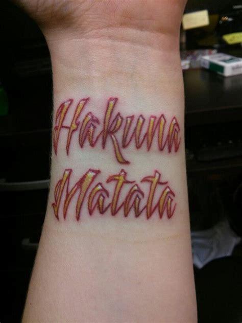 hakuna matata wrist tattoo hakuna matata wrist sayings