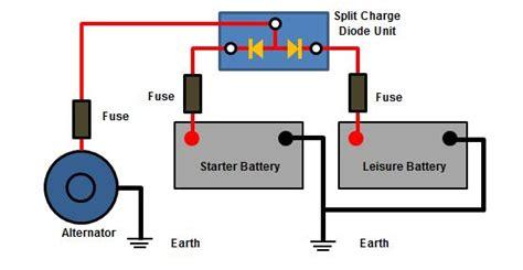 alternator diode voltage drop split charging guide caravans cervans motorhomes boats vehicles