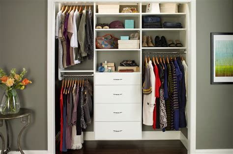 Closet Organization by Reach In Closet Organizers White