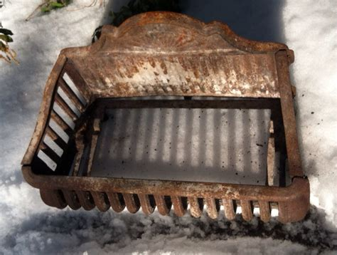 Fireplace Coal Grate by Antique Cast Iron Fireplace Basket Grate Coal Box Wood Log