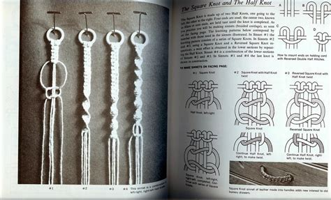 Step By Step Macrame - step by step macrame vintage pattern book 1970 80 pg