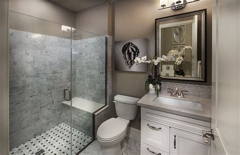 Traditional 3/4 Bathroom with High ceiling & Flat panel cabinets Zillow Digs