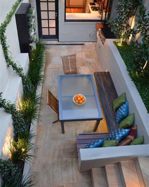 backyard dining area ideas 20 lovely backyard ideas with narrow space home design