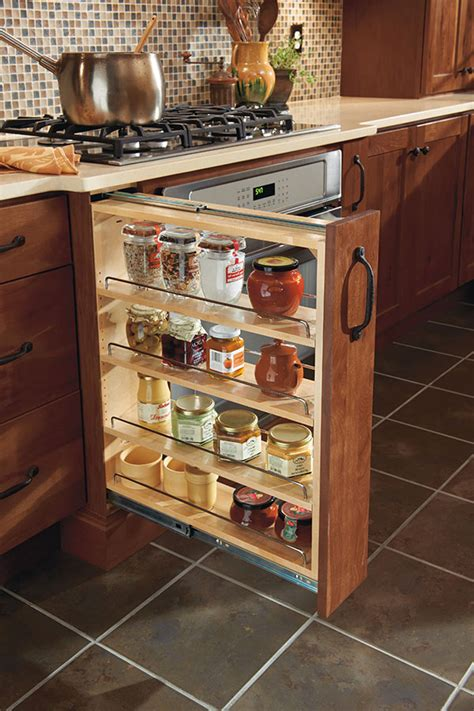 kitchen cabinet interior organizers 12 quot base pantry pull out homecrest cabinetry