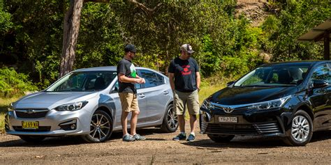 honda civic or subaru impreza small sedan comparison toyota corolla ascent v honda