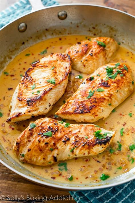 quick dinner skillet chicken with creamy cilantro lime sauce sallys baking addiction